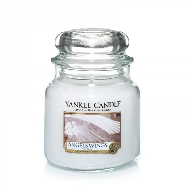 Yankee Candle Duftkerze «Angel's Wings» mittel (medium Jar 411g)