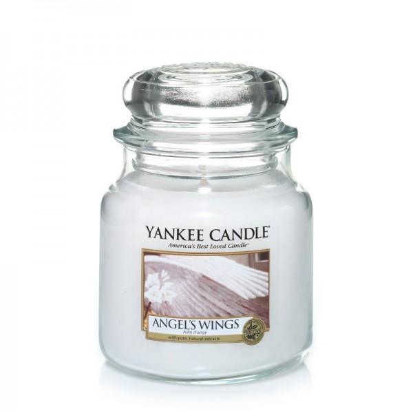 Yankee Candle Duftkerze «Angel's Wings» mittel (medium Jar 411g)