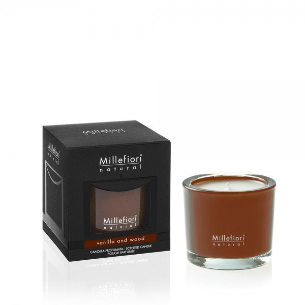 Millefiori Duftkerze Natural «Vanilla & Wood» 180gr