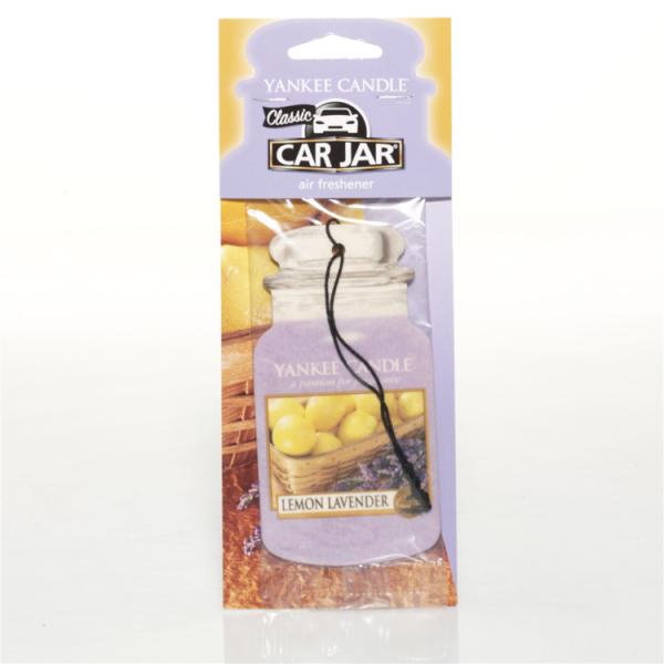 Yankee Candle Car Jar Karton «Citron & Lavande» Parfum pour voiture