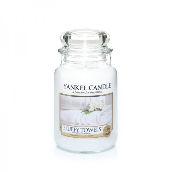 Yankee Candle Duftkerze «Fluffy Towels » gross (large Jar 623g)