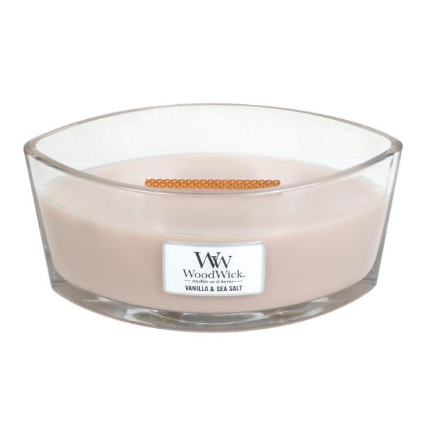 WoodWick Duftkerze «Vanilla & Sea Salt» Ellipse