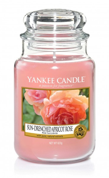 Yankee Candle Duftkerze «Sun-Drenched Apricot Rose» gross (large Jar 623g)