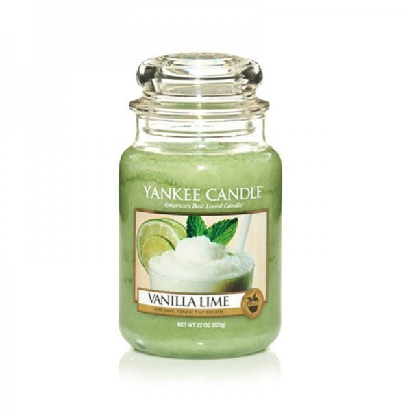 Yankee Candle Duftkerze «Vanilla Lime» gross (large Jar 623g)