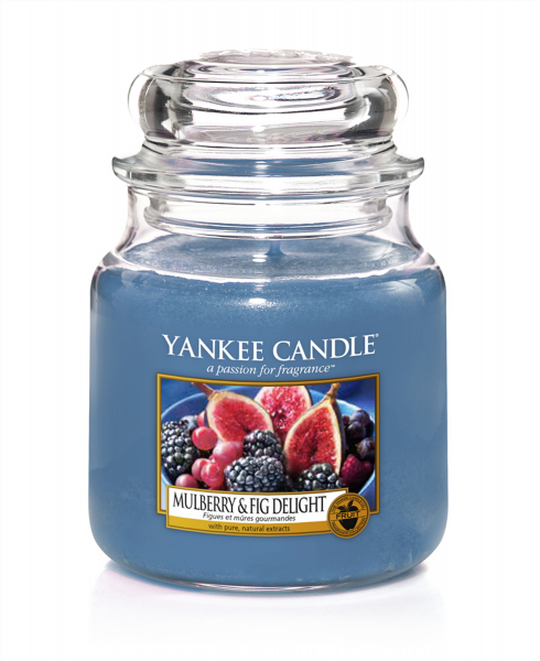 Yankee Candle Duftkerze «Mulberry & Fig Delight» mittel (medium Jar 411g)