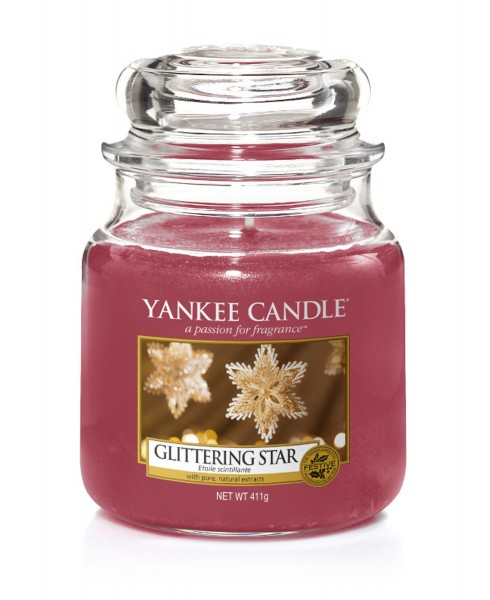 Yankee Candle Duftkerze «Glittering Star» mittel (medium Jar 411g)