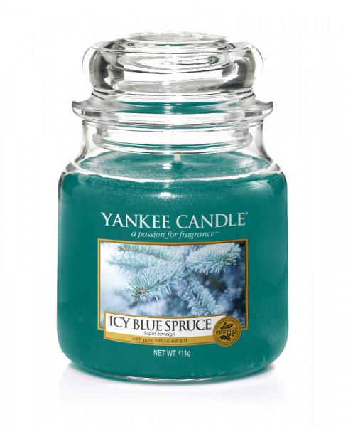 Yankee Candle Duftkerze «Icy Blue Spruce» klein (small Jar 104g)