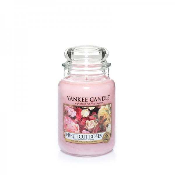 Yankee Candle Duftkerze «Fresh Cut Roses» mittel (medium Jar 411g)