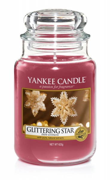 Yankee Candle Duftkerze «Glittering Star» gross (large Jar 623g)