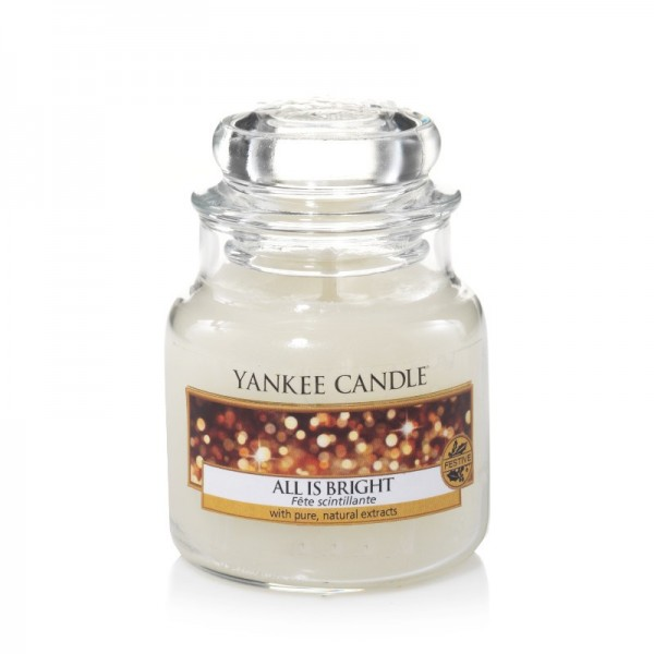 Yankee Candle Duftkerze «All is Bright» klein (small Jar 104g)