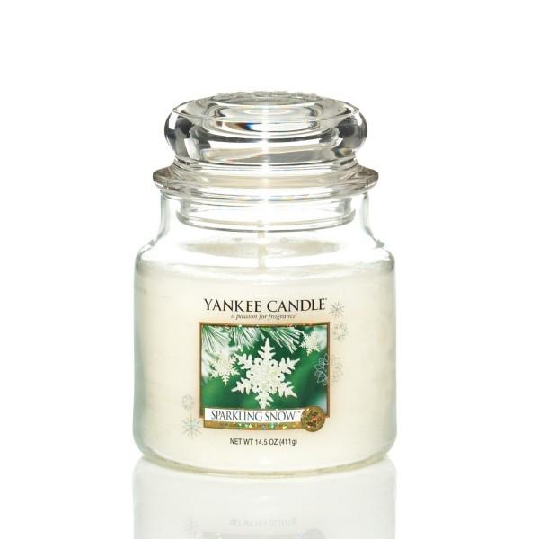 Yankee Candle Duftkerze «Sparkling Snow» mittel (medium Jar 411g)