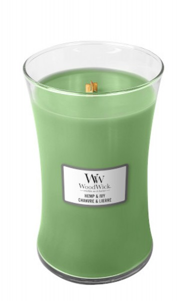 WoodWick Duftkerze «Hemp & Ivy» gross