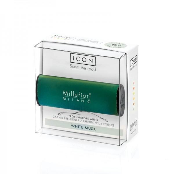 Millefiori Autoduft ICON Classic «White Musk» Grün