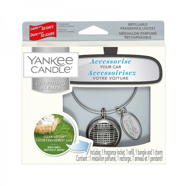 Yankee Candle Autoduft «Clean Cotton Linear» Charming Scents, Starter Kit