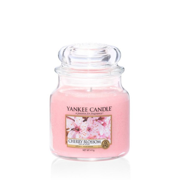 Yankee Candle Duftkerze «Cherry Blossom» mittel (medium Jar 411g)