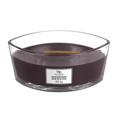 WoodWick «Eau de vie de prune» Bougie Parfumée Ellipse