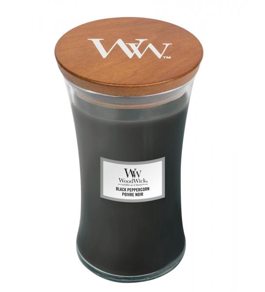 WoodWick «Poivre Noir» Bougie Parfumée grande