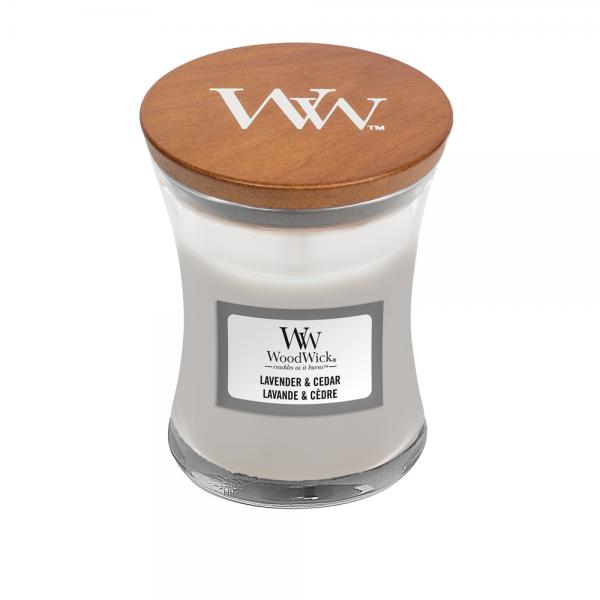 WoodWick Duftkerze «Lavender & Cedar» mini