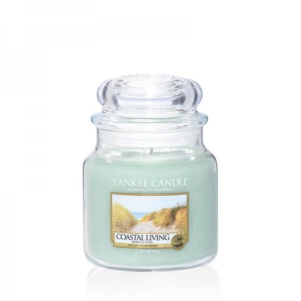 Yankee Candle Duftkerze «Coastal Living» mittel (medium Jar 411g)