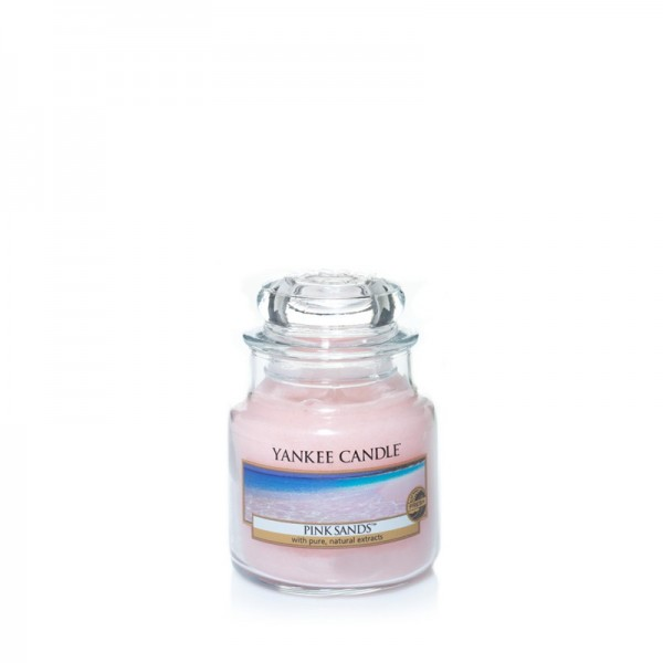 Yankee Candle Duftkerze «Pink Sands» klein (small Jar 104g)