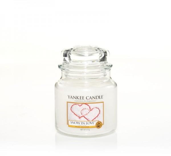 Yankee Candle Duftkerze «Snow in Love» mittel (medium Jar 411g)
