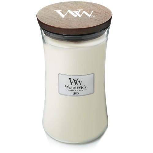 WoodWick Duftkerze «Linen» gross