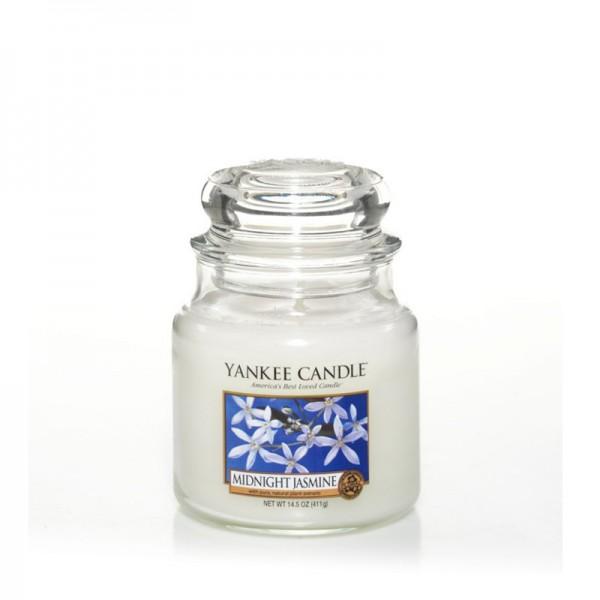 Yankee Candle Duftkerze «Midnight Jasmine» mittel (medium Jar 411g)