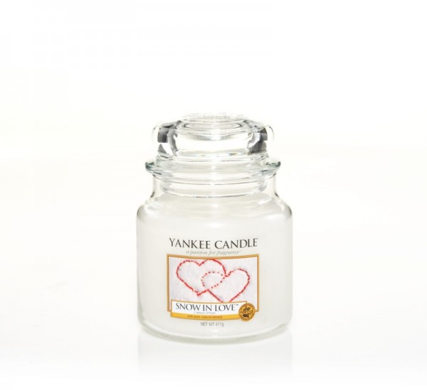 Yankee Candle Duftkerze «Snow in Love» mittel (medium Jar 411g)