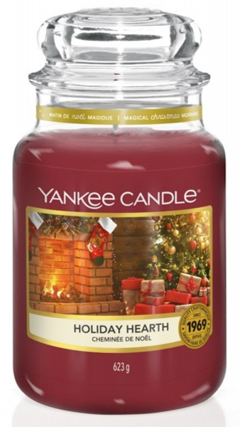 Yankee Candle Duftkerze «Holiday Hearth» gross