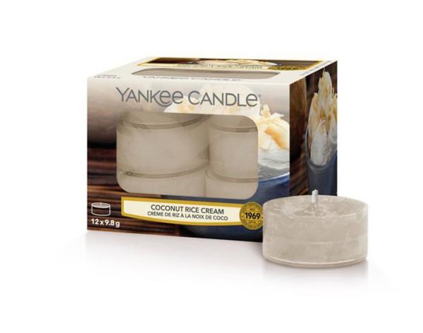 Yankee Candle «Crème Riz et Noix de Coco» Bougie Parfumée Lumignons