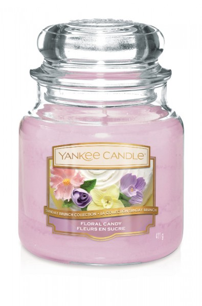 Yankee Candle Duftkerze «Floral Candy» mittel (medium Jar 411g)