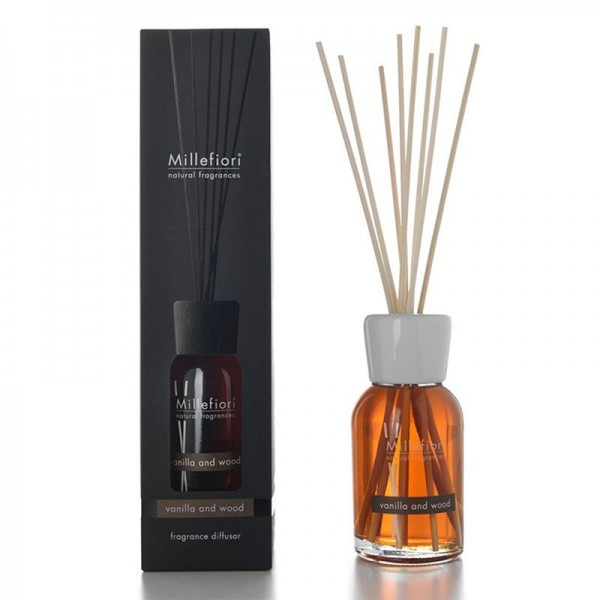 Millefiori Natural «Vanilla & Wood» Parfum d'ambiance 500ml