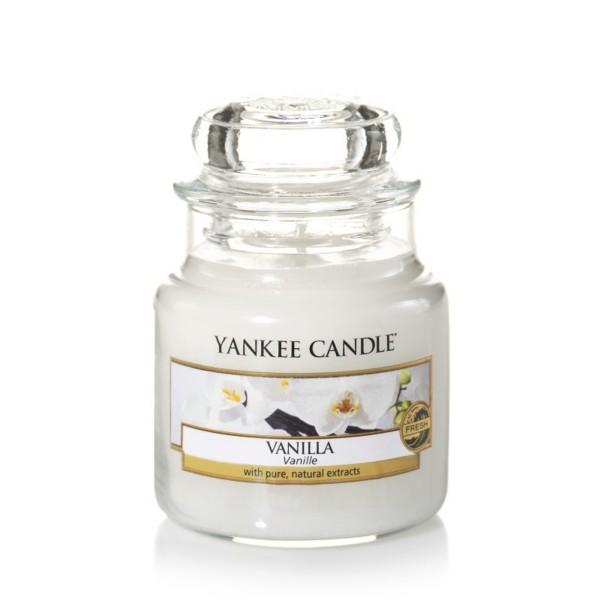 Yankee Candle Duftkerze «Vanilla» klein (small Jar 104g)
