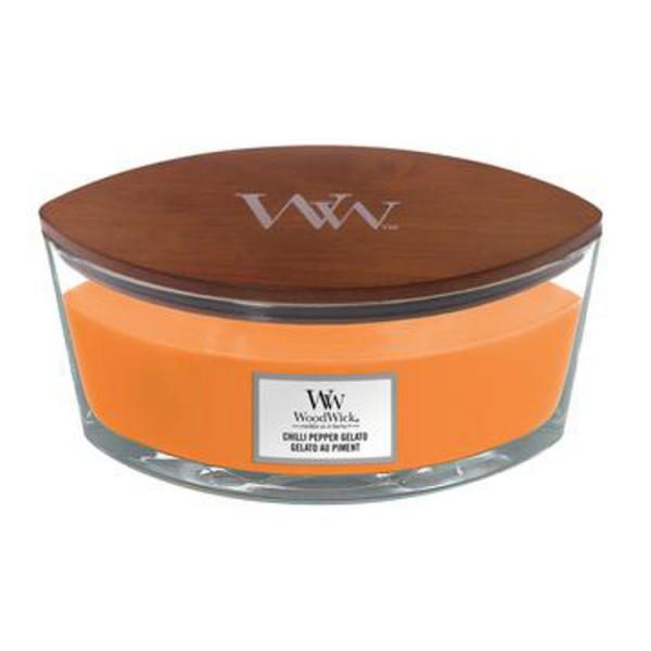 WoodWick «Chilli Pepper Gelato» Bougie Parfumée Ellipse