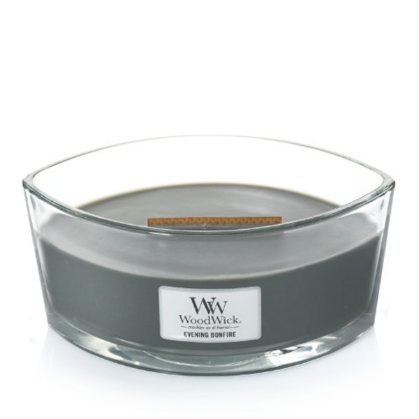 WoodWick Duftkerze «Evening Bonfire» Ellipse