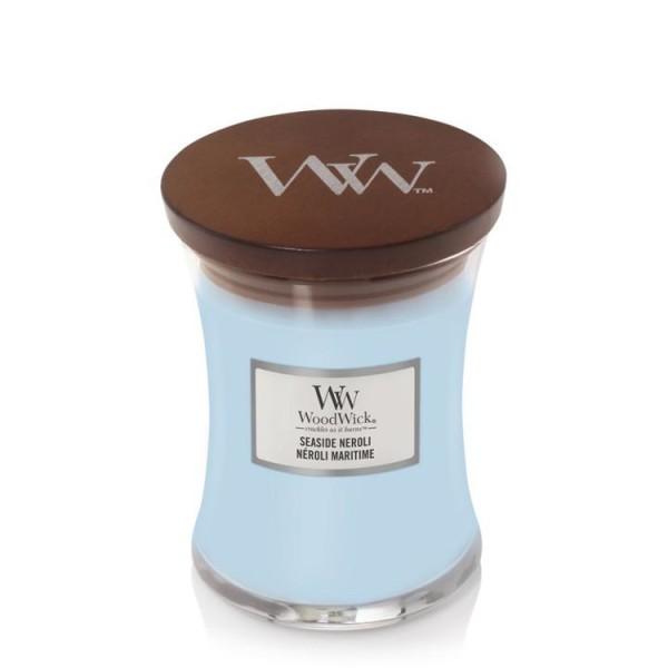 WoodWick «Néroli Maritim» Bougie Parfumée moyenne