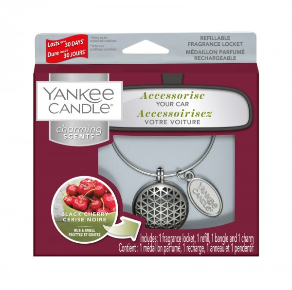 Yankee Candle Autoduft «Black Cherry Geometric» Charming Scents, Starter Kit