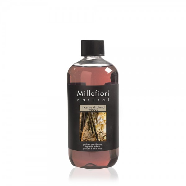 Millefiori Refill «Incense & Blond Wood» Parfum d'ambiance 250ml