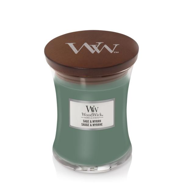 WoodWick Duftkerze «Sage & Myrrh» mittel