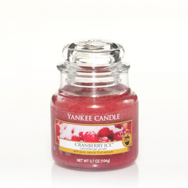 Yankee Candle Duftkerze «Cranberry Ice» klein (small Jar 104g)
